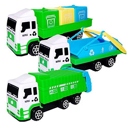 Gbell Sanitation Car Toys Kids Play Vehicles,Imaginative Truck Play Educational Cartoon Gifts Car Toys for 3 4 5 6 7 8 Year Old Boys (Random) -