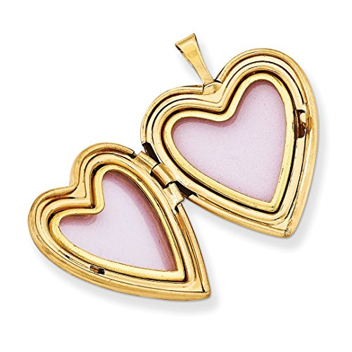 ICE CARATS 1/20 Gold Filled 20mm Cross Religious Footprint Heart Photo Pendant Charm Locket Chain Necklace That Holds Pictures W/chain Fashion Jewelry Gift Set For Women Heart by ICE CARATS (Image #5)