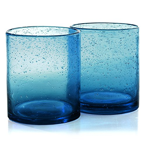 Old Fashioned Glasses, Turquoise, Set of 4 (Old Fashioned Set)