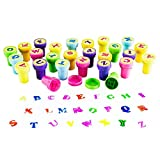 26 pcs A-Z Alphabet Stamps Self-ink Stamps Colorful Letters Stamps Set