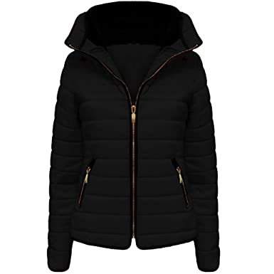 Vanilla Inc New Ladies Womens Zipped Quilted Jacket Puffer Bubble