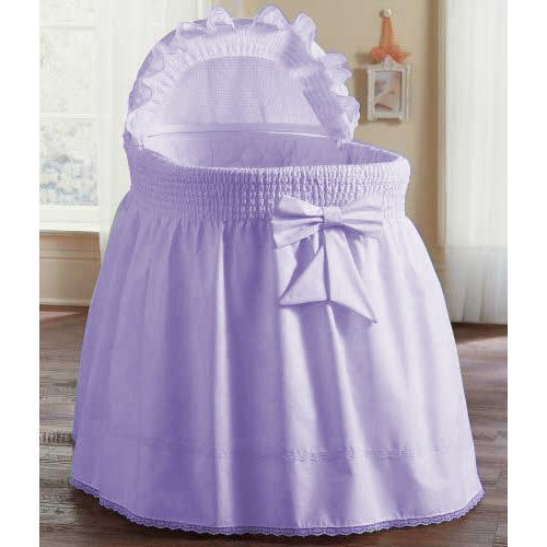 aBaby Smocked Bassinet Skirt, Lavender, Small 009243440635