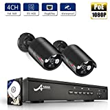 4CH POE NVR Security Camera System with 2X 1080P HD Security Camera, Plug and Play Security System Built-in 1TB Hard Drive, Free APP and Night Vision by ANRAN(Can Add More Cameras,Up to 4pcs Cameras) Review