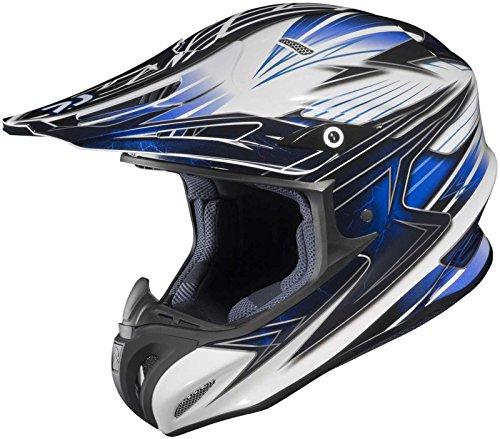 Mc2 Blue Motorcycle Helmet (HJC Helmets Factor MC-2 Graphic RPHA X Off-Road Helmet (Blue/White/Black, Small))