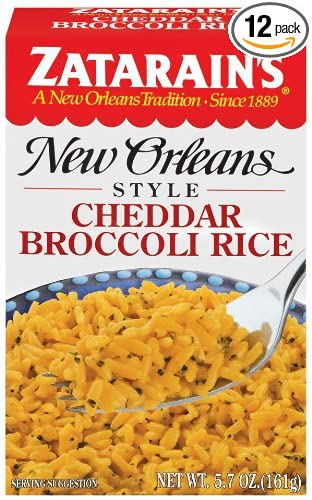 Zatarain S New Orleans Style Cheddar Broccoli Rice 5 7 Ounce Boxes Pack Of 12