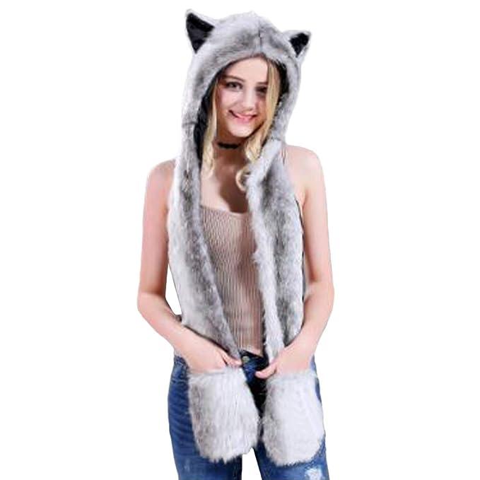 6d8c32d10 Amazon.com: HomDSim Anime Spirit Animal Hood Hoods Furry Hoodie ...