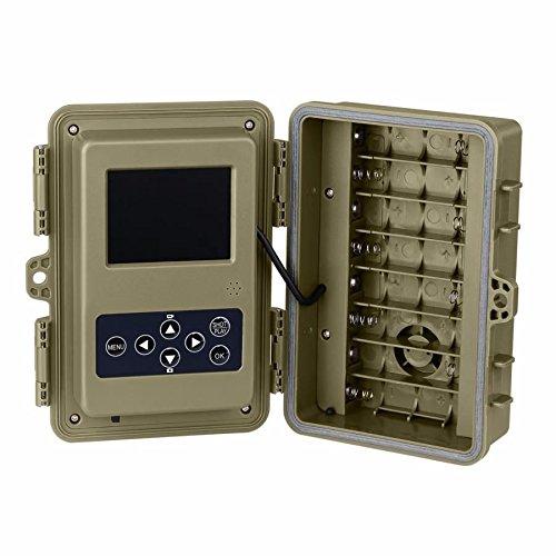 Camara caza, aguardos, vigilancia BG526. Totalmente invisible por la noche. Pantalla LCD. Menú en español. Fotos nítidas de hasta 12Mpx y videos en full HD ...