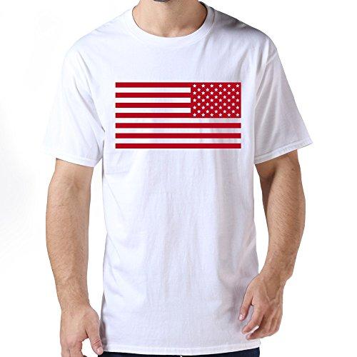 HUASH Funny Men American Flag T Shirts Size XL White