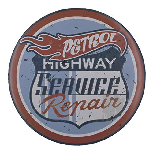ErYao Indoor Outdoor Wall Decor Vintage Metal Tin Sign Poster Plaque Bar Pub Club Cafe Home Plate Wall Decor Art (Petrol Highway) (Bar And Cafe Outdoors)