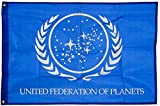 united federation planets - United Federation of Planets Flag, Exclusive Star Trek Merchandise for Indoor/ Outdoor Use, 100% Polyester, 3 x 5 Ft