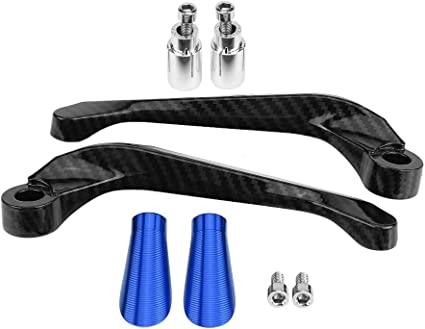 Manetas de Embrague del freno de la motocicleta de fibra de carbono de 7//8 22mm Azul protector de embrague de freno de motocicleta