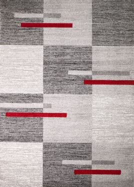 Rio Summit 306 Grey Red Area Rug Modern Abstract Many Sizes Available , 2 x 7 hall way runner