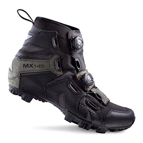 MX Schuh LAKE 46 EU 145 Schuhgröße Schwarz Rennrad Grau AEdnFWd