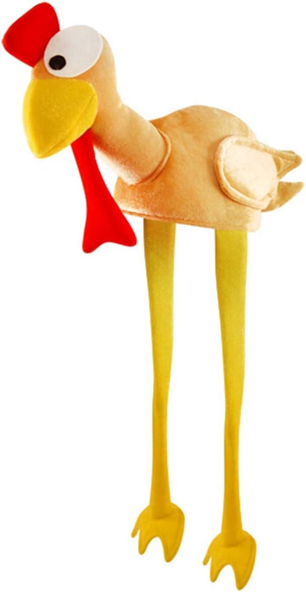 Novelty Adult 3D Christmas TURKEY LEGS Hats Xmas Party Office Womens Fancy Dress
