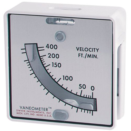 Dwyer Vaneometer™ Swing Vane Anemometer, M480, 0-2.0 m/s