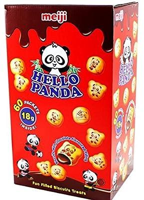 Hello Panda Chocolate Creme Filled Cookies Jumbo Box - 32 Bags (32 - .75 Oz Bags = 24 Oz) by meiji
