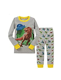 "Kidsmall ""Dinosaur"" Baby Boys Cotton Pajama Set Sleepwear 2T-7T"