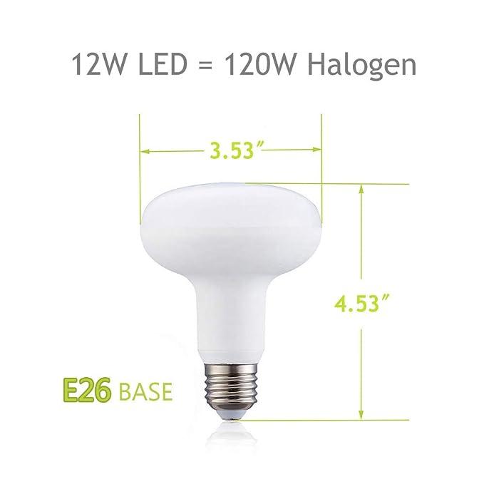 Amazon.com: Bombilla LED BR30 regulable de 12 W (equivalente ...