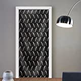 Niasjnfu Chen custom made 3d door stickers the Diamond Steel Metal Sheet Fabric Home Decor For Room Decor 30x79