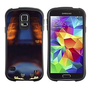Suave TPU Caso Carcasa de Caucho Funda para Samsung Galaxy S5 SM-G900 / Love Paris France Eifel Tower Tour / STRONG