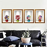 Wanrane Stickers Flowers 3D Frame Creative Wall Stickers Background European Three - Dimensional Wall Stickers