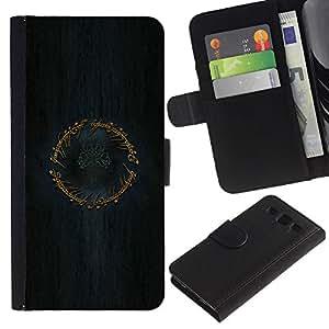 KLONGSHOP // Tirón de la caja Cartera de cuero con ranuras para tarjetas - Anillo Señor de los Anillos - Samsung Galaxy S3 III I9300 //