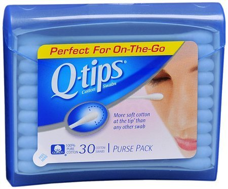 Q-tips Purse Pack - Q, Tips Cotton Swabs, 30 ct, Travel Size Purse ct (Quantity of 5)