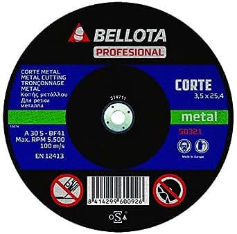 Bellota Profesional - Disco abrasivo para maquina estacionaria, corte metal (350 mm)