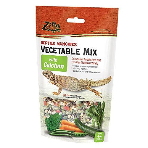 Zilla Reptile Food Munchies Vegetable Mix with Calcium, 4-Ounce