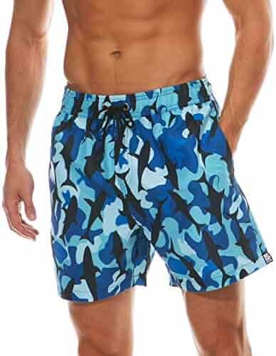 fcb865675f ESCATCH Men's Printed Short Swim Trunks Boardshorts Casual Homewear Summer Beach  Shorts with Mesh Linning