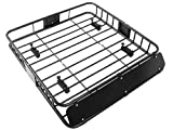 TMS %RoofTopRack-NS-TR001 Black Cargo Roof Rack (Car Top Luggage Holder Carrier Basket Travel SUV)