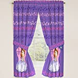 (US) Disney Junior Sofia the First Princess Drapes Panels Curtains, Set of 2 (42