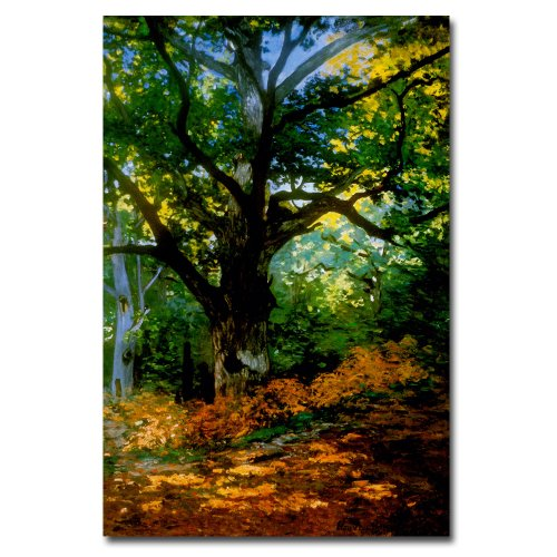 Bodmer Oak Fontainebleau Forest Artwork by Claude Monet, 30 by 47-Inch Canvas Wall Art