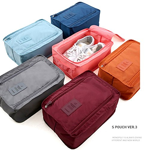 6pcs Shoes High Waterproof Shoe Bag 30 Nylon Bags Organizer Bags for Portable Heel 21 Packing Breathable 11cm Storage Cubes Space Boots Drawstring Travel Handfly Saving FSXnqCwx