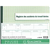 Exacompta - 6619E - Piqûre 24/32 - Registre des Accidents du Travail Bénins - 20 Pages