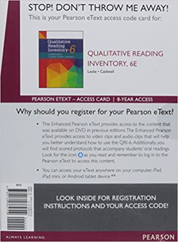 picture about Printable Informal Reading Inventory named : Qualitative Looking through Stock, Greater Pearson