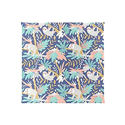 Bardic HNTGHX Outdoor/Indoor Chair Cushion Cute Sloth Tree Square Memory Foam Seat Pads Cushion for Patio Dining, 16