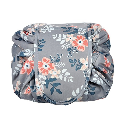Makeup Bag/Travel Cosmetic Bags/Brush Pouch Toiletry Kit Fashion Women Jewelry Organizer with Zipper Make Up Carry Case Pencil Holder Portable Cube Purse (Light Gray)