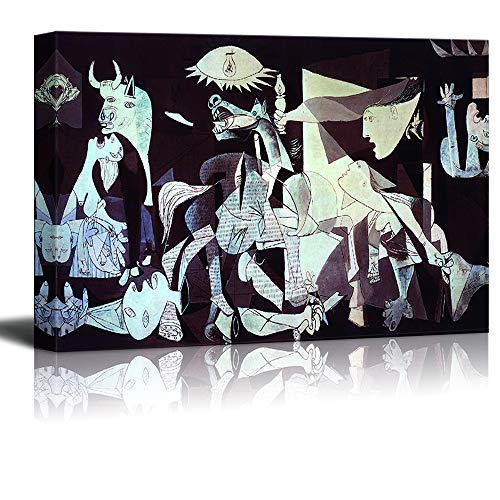 wall26 - Canvas Wall Art - Guernica by Picasso - Modern Home Decor Stretched and Framed Ready to Hang - 32x48 inches