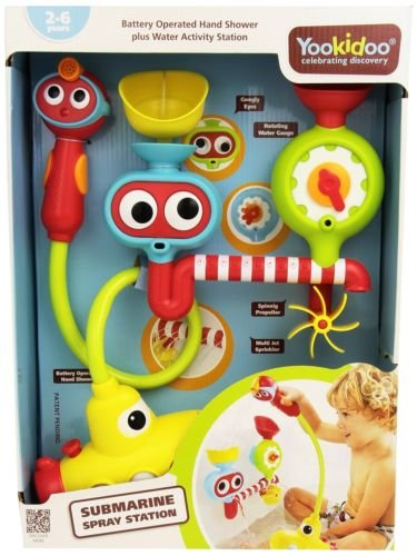 Yookidoo Bath Toy - Submarine Spray Station - Battery Operated Water Pump with Hand Shower and More by Yookidoo (Image #1)