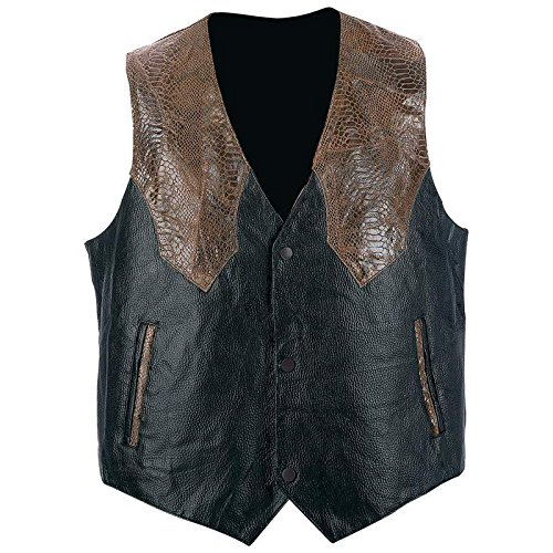 Buy mens western leather vest large sizes