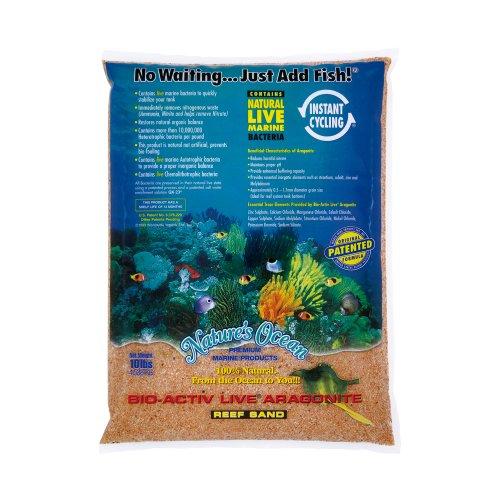 Nature's Ocean Bio-Activ Live Aragonite Live Sand for Aquarium, 10-Pound, Australian Gold by Nature s Ocean