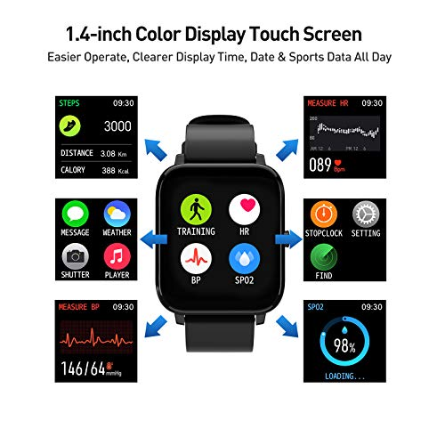 Smart Watch, Fitness Tracker with IP67 Waterproof, Heart Rate Monitor, Sleep Monitor, Smart Band, Step Counter,1.4 Inch… 5