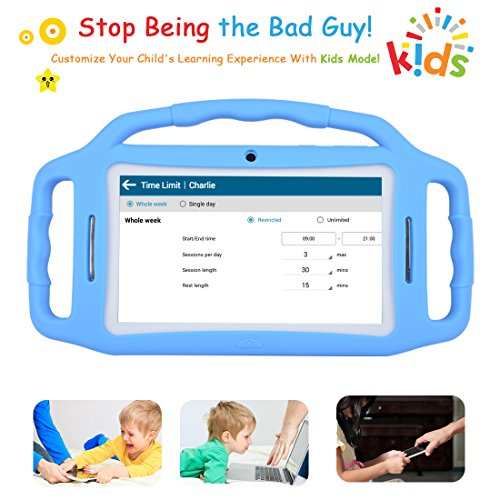 Kids Tablet Android 7.1, 7 Inch, HD Display, Quad Core, Children Tablet, 1GB RAM + 8GB ROM, with WiFi, Dual Camera, Bluetooth, Educational,Touch Screen Kid Mode,Parental Control … by BENEVE (Image #3)