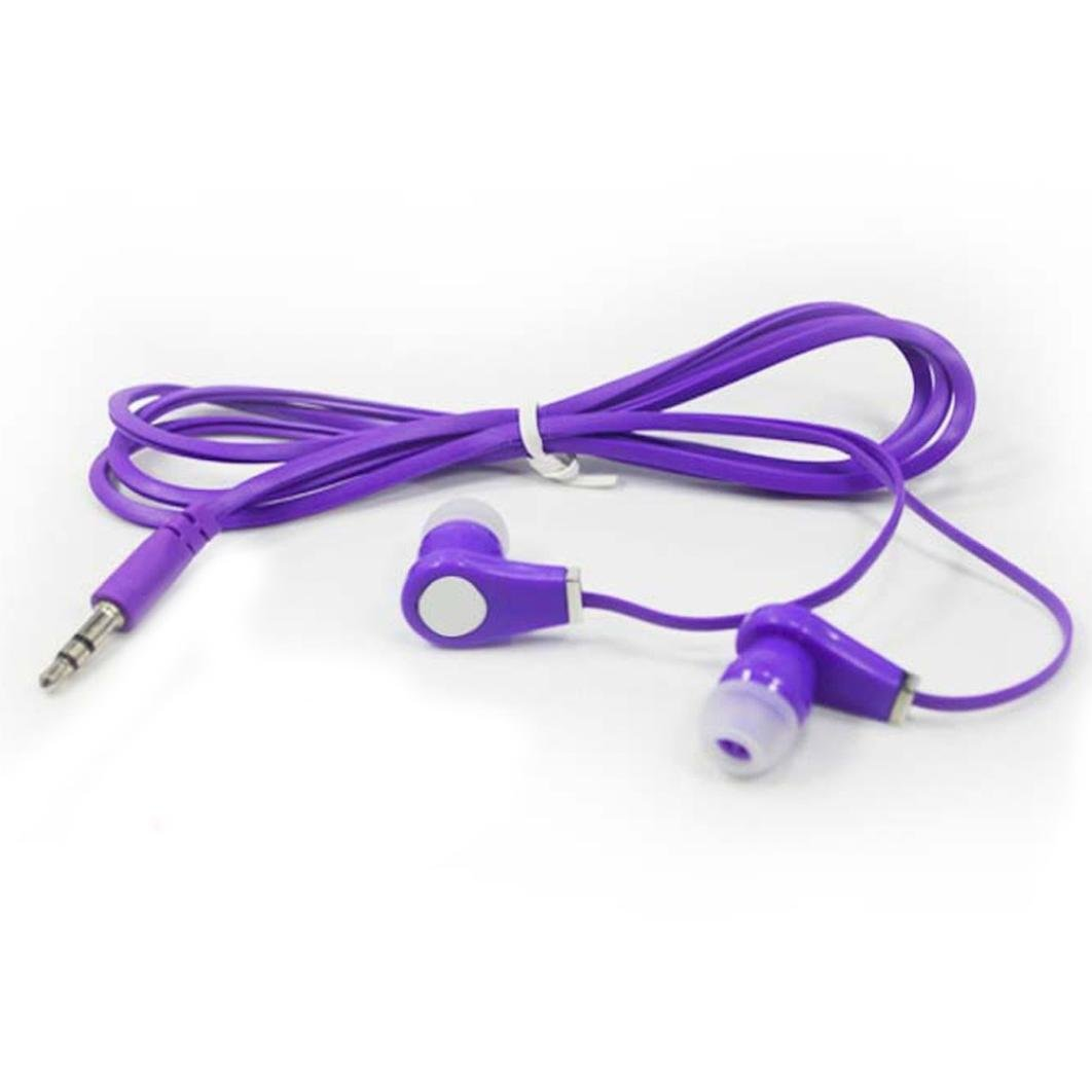 Creazy Universal 3.5mm In-Ear Stereo Earbuds Earphone With a 3.5 mm Audio Jack,Computer (Purple) by Creazydog (Image #4)