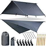 Yztree Rain Fly Tent Hammock Tarp Waterproof 170'' Centerline Large Silnylon Lightweight Backpacking Camping Shelter 10.5 x10ft Include More Accessories for Various Weather Conditions Fly Tent Tarp