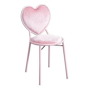 BDLYZ Yxsd Nordic Iron Pink Dressing Stool Simple Metal Creative  Heart-shaped Chair Modern Dressing 93501691b
