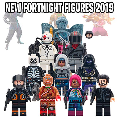 Head Figure Set - Toy Figures Set- 10 Heroes - Gift for Boys and Girls (New 2019 Heroes)