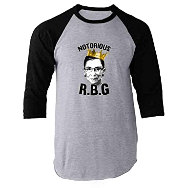 8ef76a66 Amazon.com: Notorious R.B.G. RBG Supreme Court Political Raglan Baseball Tee  Shirt: Clothing