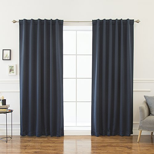 Best Home Fashion Thermal Insulated Blackout Curtains - Back